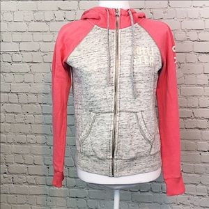 Hollister Colorblock Zip Up Hoodie